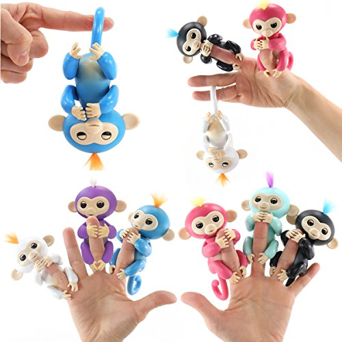 Finger Monkey Interactive Toy - Fun Cute Hanging Puppet - Baby Monkey Pet for Children [Only 1 Monkey with Random Color Will Be Shipped]