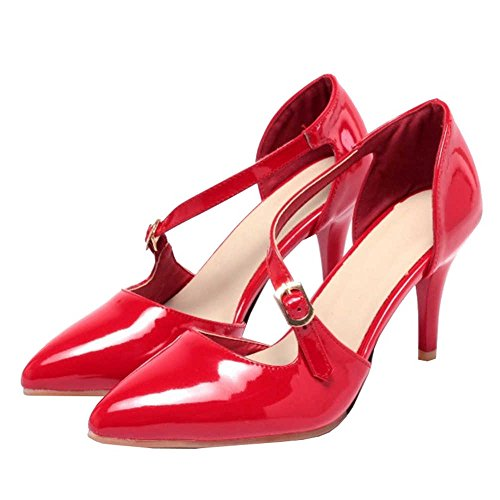 Thin Working and Toe with Red Available with Pointed Heel Size Sandals Large Pumps SJJH AEfx11