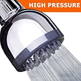 Shower Head - High Pressure High Flow Fixed Chrome 3 Inch Showerhead - Removable Water Restrictor - The Best Shower Head for Low Water Pressure - Adjustable Brass Swivel Ball Joint