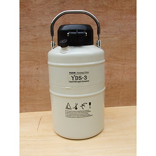 HFS new Version - 3.15 Liter (0.83 gallon) Cryogenic Container Liquid Nitrogen Ln2 Tank ,Update with Straps and Carry Bag (3 Liter)