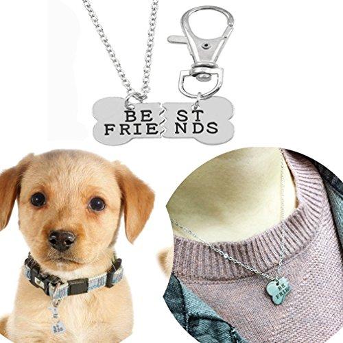 Best friend dog necklace engraved bone pendant love dog tag necklace on sale aloadofball Images