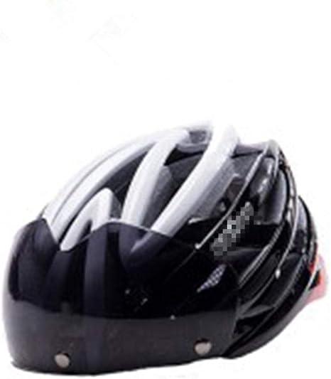 Pkfinrd Casco de Bicicleta Gafas Desmontables Visera para el Sol ...