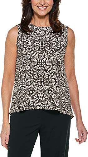 - Coolibar UPF 50+ Women's St. Tropez Swing Tank Top - Sun Protective (3X- Brown Isle Medallion)