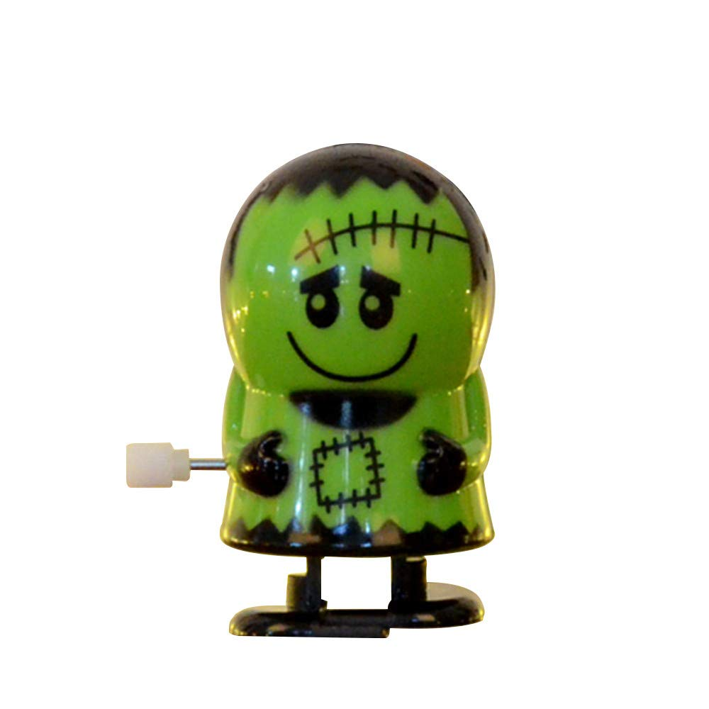 Clockwork Gift Wind Up Bounce Toy Props Toy Jumping Pumpkin Monster Toys (Green)