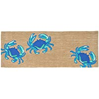 Area Rugs - 'Dancing Blue Crabs' Rug - 27' X 72' Runner - Indoor Outdoor Rug - Blue Crab Rug