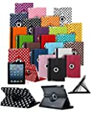Samsung Galaxy Tab 3 7 inch P3200 P3210 T210 Tablet 360° Rotating Swivel Executive PU Leather Folio Case Stand Cover with Screen Protector - Dark Purple
