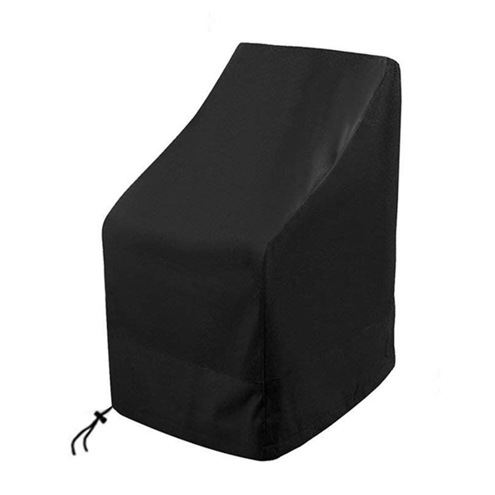 SIRUITON Patio Stacking Chair Cover 420D Oxford Waterproof Breathable Reclining Pation Chair Cover -18 Month Warranty 47×25.6X 25.6 31.49in 120 x 65 x 65 80CM