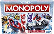 Monopoly: Transformers Edition Board Game for 2-6 Players Kids Ages 8 and Up, Includes Autobot and Decepticon