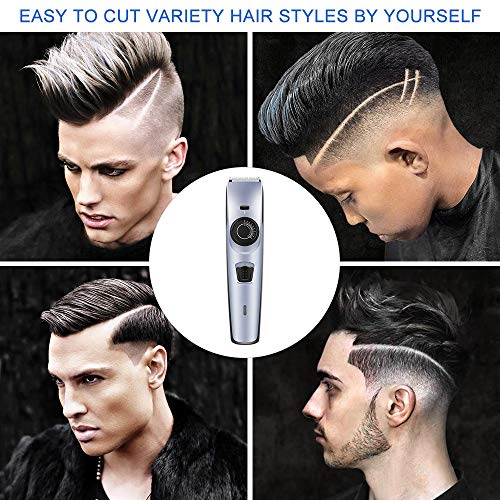 Hair Clippers,Electric Cordless Hair Trimmer,38 Adjustable Length Settings with 2 Detachable Combs Haircut & Beard Grooming Kit,Hair Cutting Tools for Men,Children