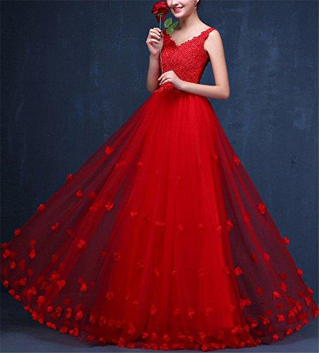 Drasawee Damen Drasawee Empire Empire Rot Damen Kleid Kleid Rot rxxndITwz