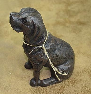 LuLu Decor, Cast Iron Dog Door Stopper, Doorstops, Sculpture, Dog Statue