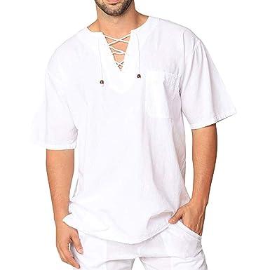 452b7fe4efa2 Sayla Camiseta para Hombre Manga Corta Verano Polo Camisas Casual ...