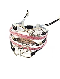 The Love Between The Grandmother And Granddaughter Is Forever Bracelet Adjustable-2 Styles
