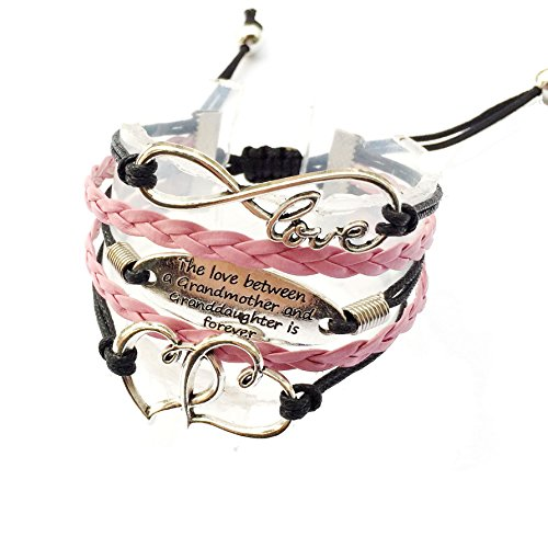 DOLON The Love Between The Grandmother And Granddaughter Is Forever Bracelet Adjustable-Grandma Gift