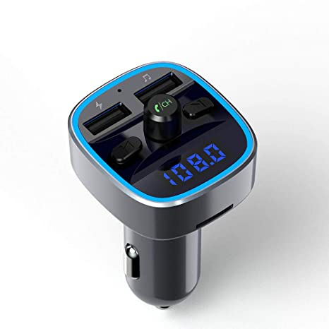 Bluetooth Transmisor FM,para Coche,Adaptador de Radio Cargador de ...