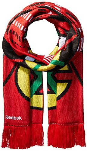fan products of NHL Columbus Blue Jackets SP17 Arrow Knit Jacquard Scarf, Red, One Size