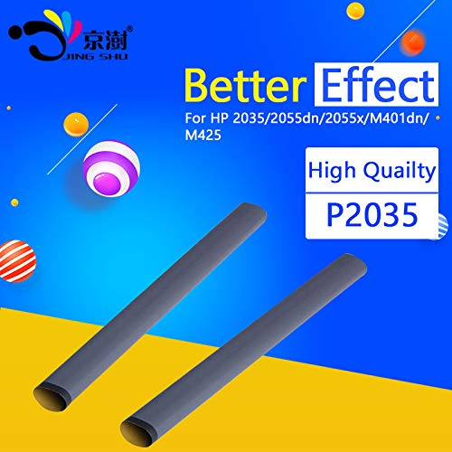 (Printer Parts 10pcs/lot Grade A fuser Film Sleeve p2035 with Grease for HP Laserjet 2035 2055 P2055 Pro 400 M401 M425 for hp p2035 Printer )