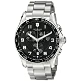 Victorinox Men's 241650 Chrono Classic Analog Display Swiss Quartz Silver Watch