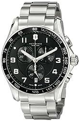 Victorinox Men's 241650 Chrono Classic Analog Display Swiss Quartz Silver Watch