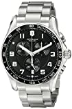 Victorinox Men's 'Chrono Classic' Swiss Quartz Stainless Steel Casual Watch, Color:Silver-Toned (Model: 241650)