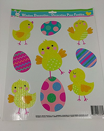 Happy Easter Theme Stuffer Spring Egg Accessory Unique Home Decor Decoration Stickers Sticker CHICK Toy
