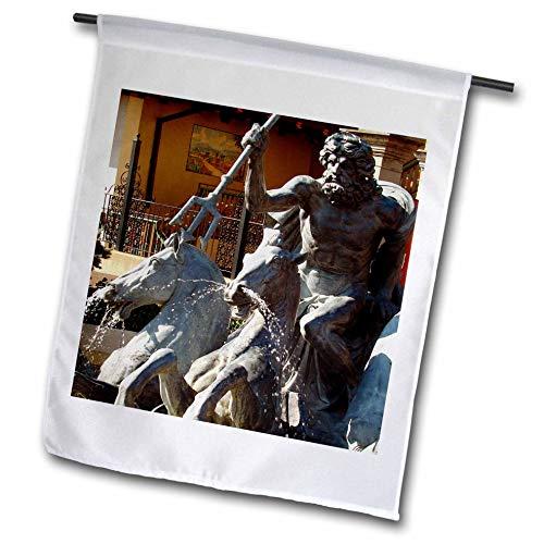 3dRose Cassie Peters Kansas City - Neptune Fountain - 18 x 27 inch Garden Flag (fl_288451_2) by 3dRose