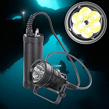 Image of Ano CL6000X Diving Canister Light with 12x18650 Batteries Constant Brightness for 6000 Lumen Straight or Side Mounted Canister Primary Diving Lights with 650ft Waterproof Diving Lights