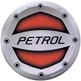 Ramanta® Reflective Red Petrol Inside Decal/Sticker Car Fuel Lid for Hyundai i20 Active (Sticker Size: 10cm X 10cm) (Pack of 1)