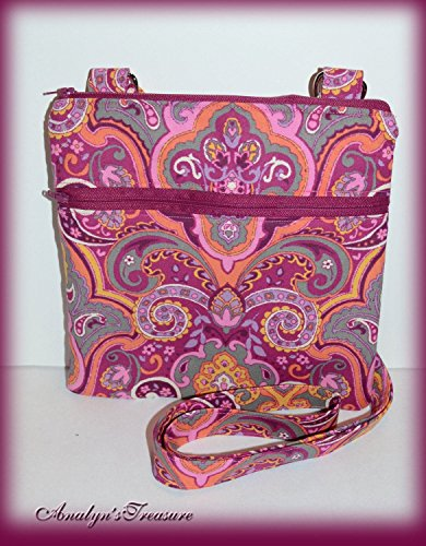 Paisley Quilted Crossbody Bag, Quilted Crossbody Bag, Paisley Crossbody Bag, Travel Purse, Passport Bag, Travel Bag, Quilted Bag