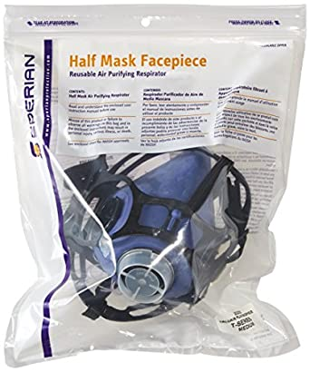 Honeywell 302000 Valuair Plus Respirator, Medium Basic Facepiece Assembly (Pack of 10)