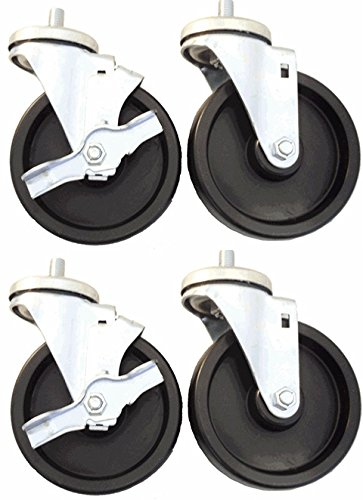 4'' x 1-1/4'' Caster Set of 4 for True Refrigerators, Polyolefin Wheels by Access Casters Inc.