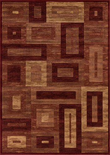 Cheap Momeni Rugs DREAMDR-02RED5376 Dream Collection, Contemporary Area Rug, 5'3″ x 7'6″, Red