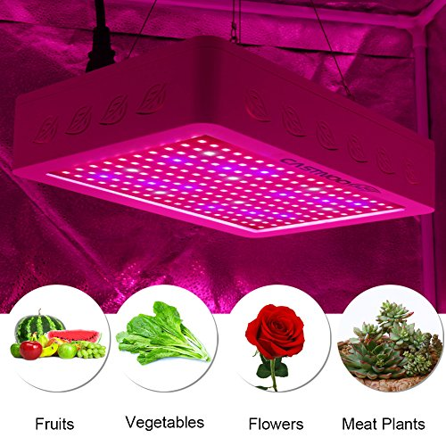 1000W LED Grow Lights Kit, Hanging Grow Lights For Indoor Plants Full Spectrum with UV&IR for Indoor Greenhouse Plants Veg and Flower, Plants(5W Leds 200Pcs) by Jozocy