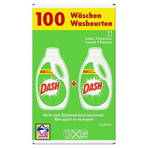 Dash Regulär Flüssigwaschmittel 2 x 3.25 l, 2er Pack (2 x 100 Waschladungen)