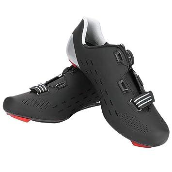 Alomejor NUEVOS Zapatos de Ciclismo de Carretera Zapatillas Ligeras de Fibra de Carbono Antideslizantes SPD System Lock para Bicicleta de montaña 39-45 ...