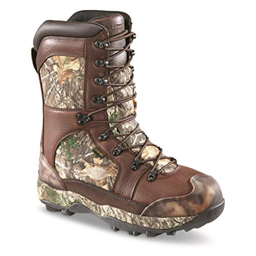 Guide Gear Monolithic Extreme Waterproof Insulated Hunting Boots, 2,400-gram Thinsulate Ultra, Realtree Edge, 10.5D (Medium)