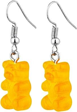 Boucles doreilles pendantes argent/ées en acrylique