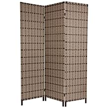 Oriental Furniture Weather Resistant Room Divider, 6-Feet Tall Tropical Style Iron Frame Outdoor Screen