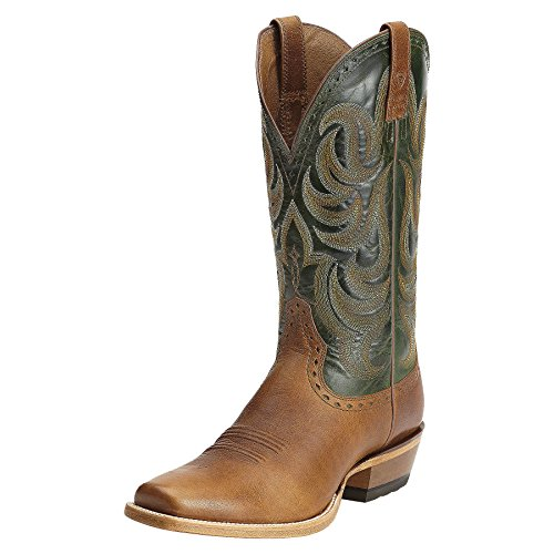 Ariat Men's Turnback Western Cowboy Boot,Caliche/Neon/Lime,8