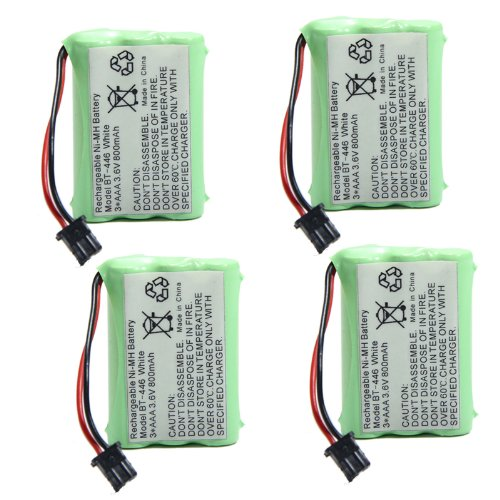 SODIAL(R) 4x 3.6v 800mAh Home Phone Battery for Uniden BT-446 BP-446 BT-1005 BT1005 Erp512 3815 Cordless Phone Battery