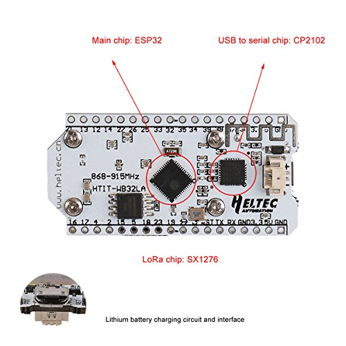 MakerFocus ESP32 Development Board WIFI Bluetooth LoRa Dual Core 240MHz CP2102 with 0.96inch OLED Display and 868/915MHZ Antenna for Arduino by MakerFocus (Image #6)