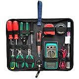 58 piece computer repair tool kit - XMCOWAYOU Professional Electricians Tool Bag Hard Plate Kit Set Bag