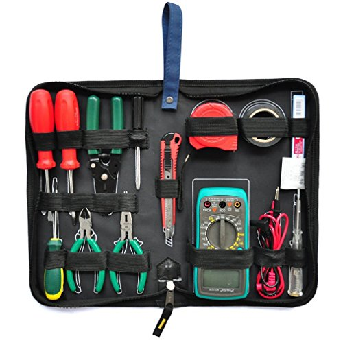 XMCOWAYOU Professional Electricians Tool Bag Hard Plate Kit Set Bag by XMCOWAYOU