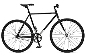 Critical Cycles Harper Coaster Fixie Style Single-Speed Commuter Bike with Foot Brake, Matte Black, 43cm-xs
