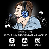 Gaming Headset with Mic LED Light On Ear Gaming
