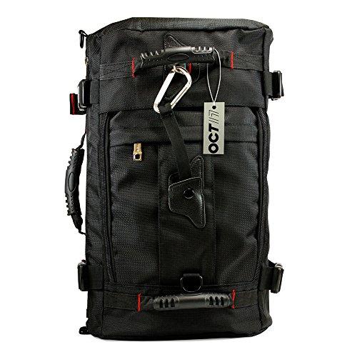 Hiking Outdoor Backpack, Knapsack 40L Multi Function Travel Camping Climbing Mountaineering Daypack Pack Duffel Messenger Rucksack shoulders Computer 17-Inch Laptops Bag – Black