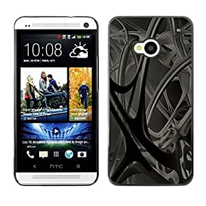 LECELL -- Funda protectora / Cubierta / Piel For HTC One M7 -- Abstract 3D --