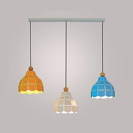 Amazon.com: Lámpara de techo de hierro con luz LED pequeña ...