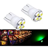 PA 25PCS #555 T10 4SMD LED Pinball Machine Light Bulb Green-6.3V