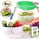 SPECIAL OFFER Premium 2x Salad Cutter Bowl, Plus 2x BONUS + eBook! - Vegetable Cutter Bowl - Make Your Salad in 60 Seconds. Fast Fresh Salad Slicer Salad Chopper
